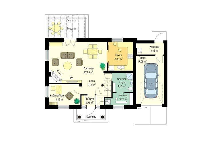 Заказ лестницы на второй этаж в частном доме